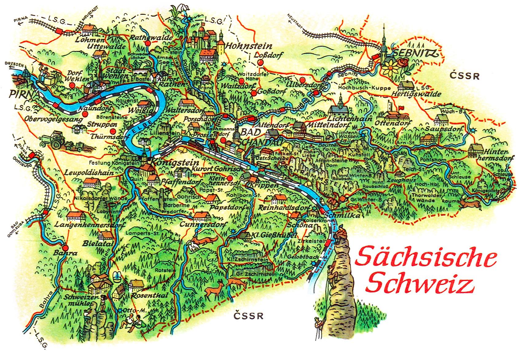Ansichts Landkarten