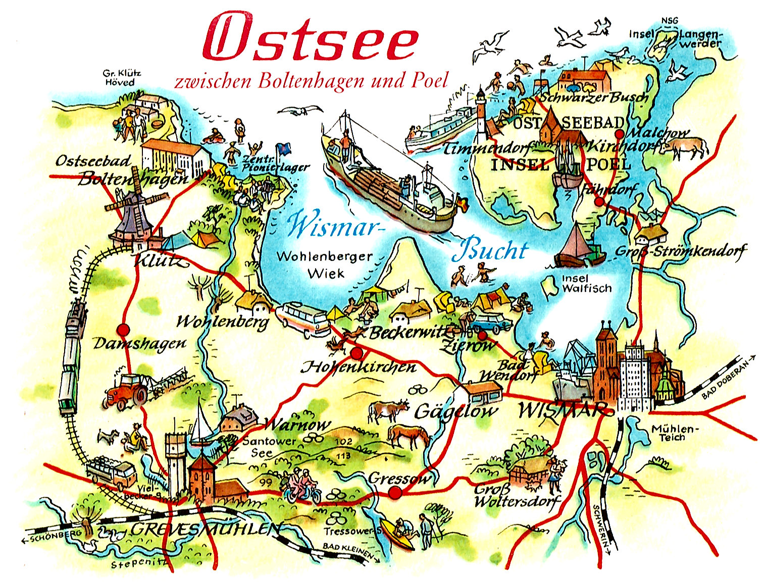 Ostsee Boltenhagen Karte | Weltkarte Länder - Karte Deutschland Ostsee